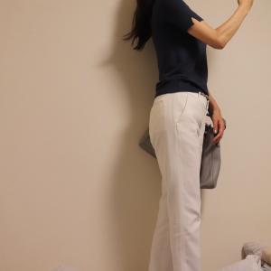 ♪OLコーデ♡今年最後のホワイトパンツ履き納め!