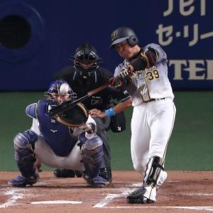 代打の長坂、びっくり1号!2年連続シーズン初打席本塁打に矢野監督絶賛「素晴らしい」