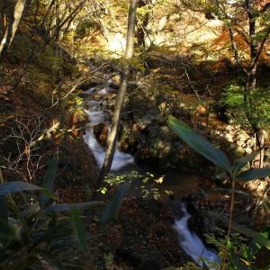 紅葉の杉田川渓谷,滝巡り  (三日月の滝)