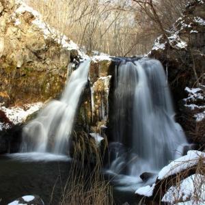冬ざれ少雪の羽鳥湖高原・明神滝 ⑤