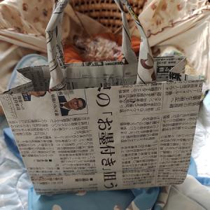新聞紙で手提げ袋