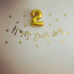 2歳、おめでとう♪