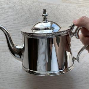 憧れの銀のティーポットを手に入れた話。【英国ホテルの銀食器】