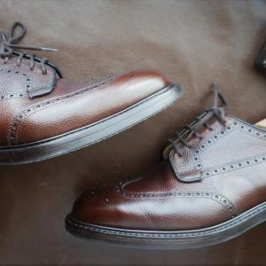 シボ革グレインレザーの革靴をお手軽にビンテージ加工する方法【簡単エイジング】