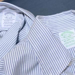 ブルックスブラザーズのメードインUSAのボタンダウンシャツを滑り込みでGETした話【ミラノとリージェントの比較も】