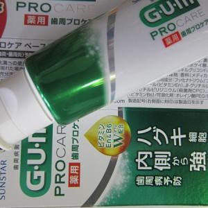 歯磨き粉を変えた(ガム 歯周プロケア)