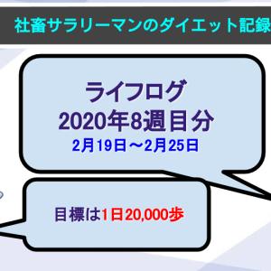 【サラリーマンのダイエット記録】2月19日〜2月25日分【ライフログ2020年8週目】