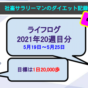 【サラリーマンのダイエット記録】2021年5月19日〜5月25日分【ライフログ2021年20週目】