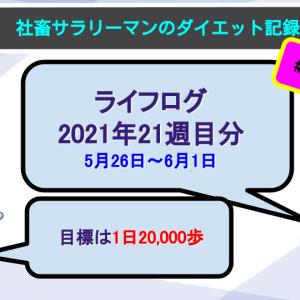 【サラリーマンのダイエット記録】2021年5月26日〜6月1日分【ライフログ2021年21週目】