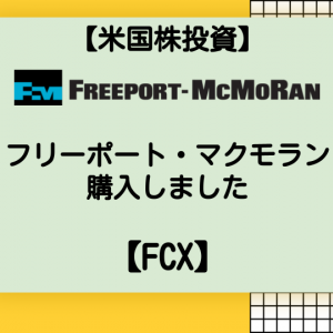 【米国株投資】フリーポート・マクモランを購入しました【FCX】
