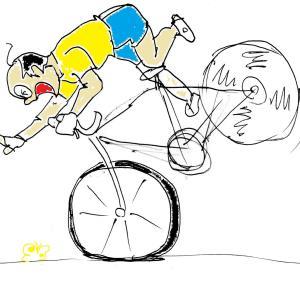 ロードバイクのブレーキング ~ ジャックナイフとかスリップとか ~