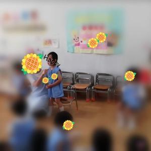 長男、幼稚園でお誕生日会