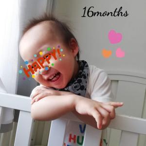 次男 生後16ヶ月(1歳4ヶ月)