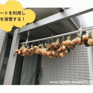 【家庭菜園】玉ねぎの保管方法:カーポートに保管する方法