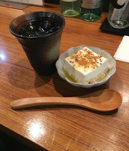 昨日はあべちかたこ焼き酒BAR一休でアジアン豆腐なるものを食べた。