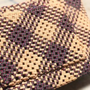 ずっとコツコツ編んできた斜め立ち上げ石畳編みバッグに、外ポケット付きました!