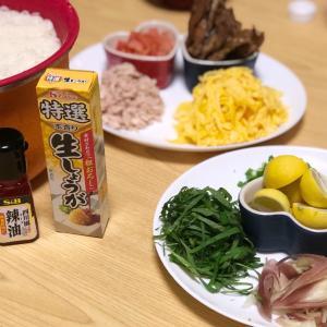 素麺、アレンジして夕飯にしました。長男作です。