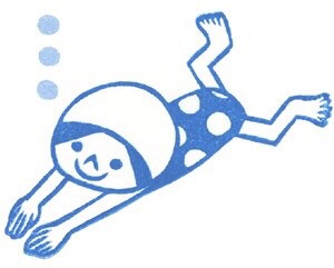 プールレッスンでした。月曜レッスンの平泳ぎはレアです!