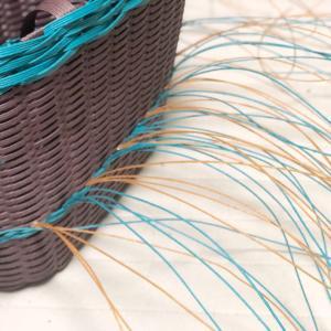 ダブルマクラメ編み、レッスン準備中。