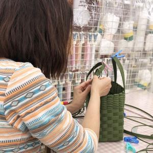 トーカイ福井店・トーカイ武生店のクラフトバンドレッスン。私も一緒に…。笑