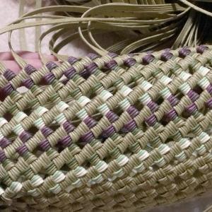 グリーン系グラデーションバンド。石畳み編みで販売用に…と思ってます。