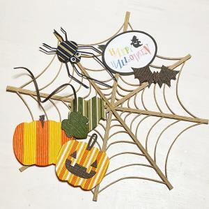ハロウィン蜘蛛の巣リース、増産しました。
