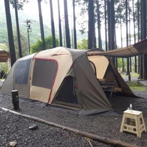 雨キャンプ決行中