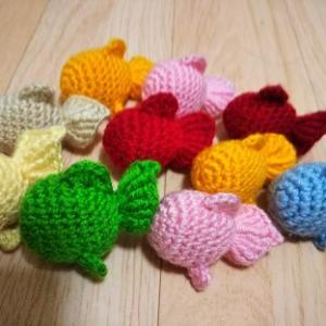 編みぐるみ 金魚