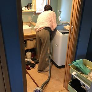 洗濯機配置換え…