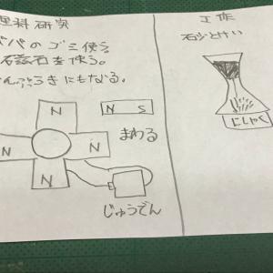 次女~夏休み自由研究(永久磁石発電)~