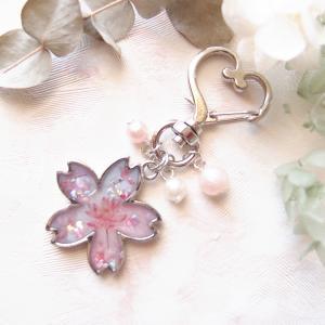 【UVレジン作り方】桜のキーホルダーの作り方