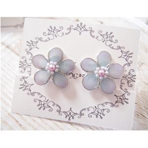 【UVレジン作り方】丸カンでお花のイヤリング