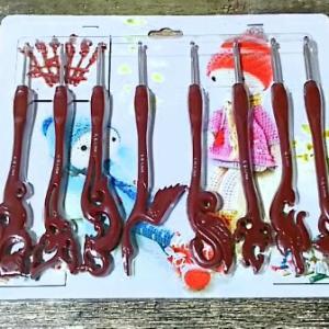 中国の装飾付きかぎ針セット。