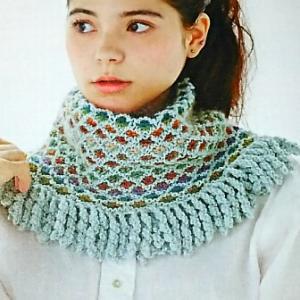 ベルンド・ケストラーさんの本から、、、まずは試し編み。