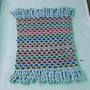 ベルンド・ケストラーさんの本から、やっとフリンジ編めました。