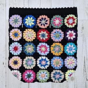 カラフルレースモチーフバッグ、すべて編み上がりました。