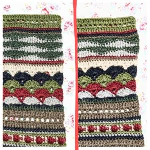 【スパイシーブランケット】少し編み直しました。