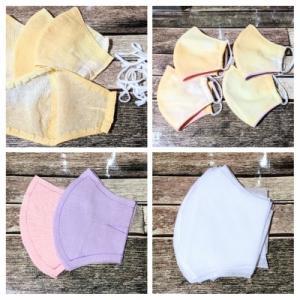 フィルター入り布マスクを新品に作り替え。