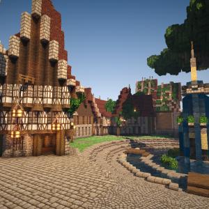 【Minecraft】噴水と巨大樹の広場 part1