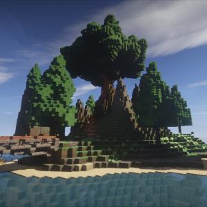 【Minecraft】ゼロから始める街づくり「巨大樹と島」