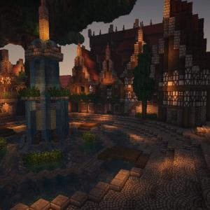 【Minecraft】噴水と巨大樹の広場 part2