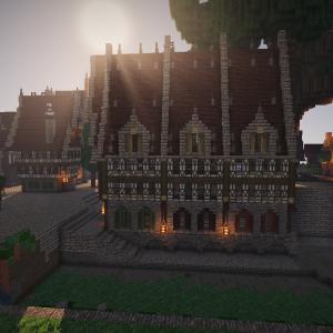 【Minecraft】小さい運河と巨大樹周辺の開発。part1
