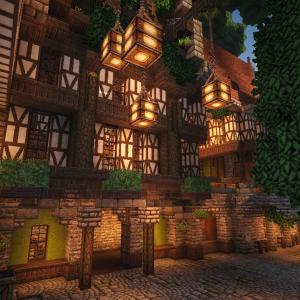 【Minecraft】小さい運河と巨大樹周辺の開発。 part2