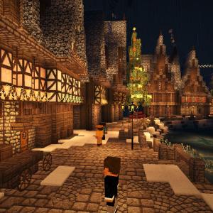【Minecraft】~完~ クリスマスがやってきた!(町) XMAS建築part 終