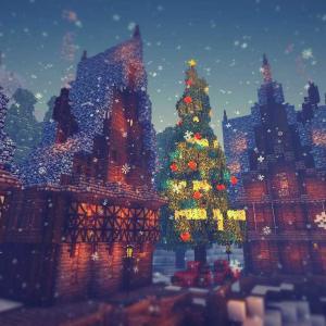 【Minecraft】夢とロマンとクリスマスツリー。。Xmas建築Part5