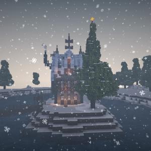 【Minecraft】暖かい我が家がまっているぅ Xmas建築Prat3