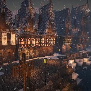 【Minecraft】家たちとダサかったあのブロック達。 クリスマス建築Part4