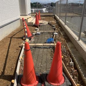 久々のコンクリート打設工事
