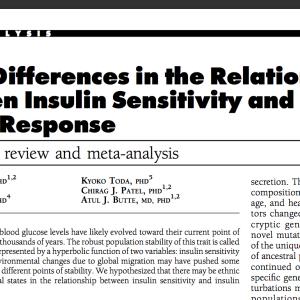 インスリン抵抗性とインスリン分泌量の人種差