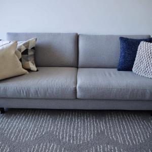 クッションカバーの色を減らしてスッキリした部屋が今は良い。春夏インテリアへ模様替え。
